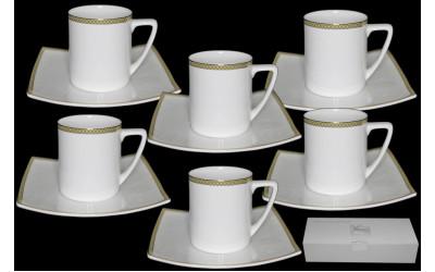 125-142 чайный набор 12предметов GALAXY GOLD