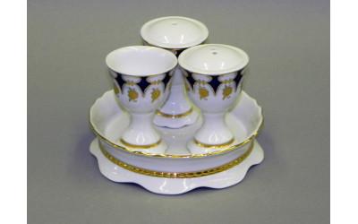 Набор для приправ 4предм. 07162512-0443 Соната Кобальтовый орнамент, золотой цветок, Leander