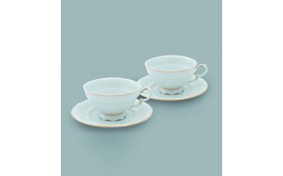 Набор из двух чайных пар  0,20л 07140425-1139 Соната Отводка золото, Leander