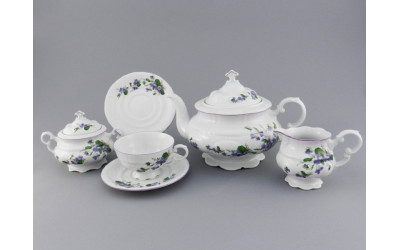 Сервиз чайный 15 предм. 07160725-2393 Соната Фиалки, Leander
