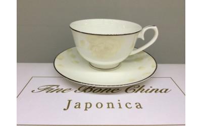 Набор чашек на 2 персоны Бежевая роза J05-153BG-3, Japonica