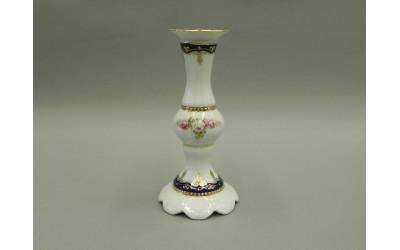 Подсвечник отдельный выс. 18см 07118014-0440 Соната Кобальтовая лента, мелкие цветы, Leander