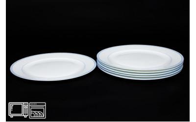 Набор тарелок 6 шт. 25 см Утренний, костяной фарфор