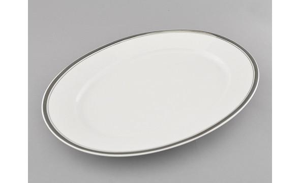Блюдо овальное 35см 02111523-0011 Отводка платина, Leander
