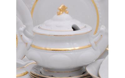 Супница круглая 2,50л 07122013-1239 Соната Золотая лента, слоновая кость, Leander