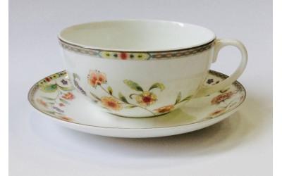 """Чашка с блюдцем 350мл """"Асэми"""" JDWX017-8"""