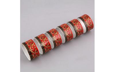 Набор колец для салфеток 6шт 02164611-B979 Красная лента Версаче, Leander