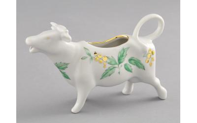 Сливочник-корова 0,07л 21110813-1381 Мэри-Энн Зеленые листья, Leander