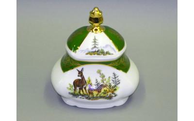 Шкатулка для чай. пакет. 0,65л 03115005-0763 Охота Царская зеленая, Leander