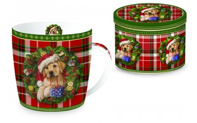 Кружка (клетка) Рождественский щенок