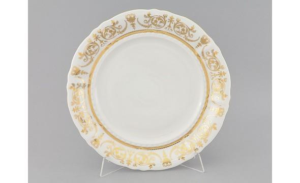 Блюдо круглое мелкое 32см 07111315-1373 Соната Золотой орнамент, отводка золото, Leander