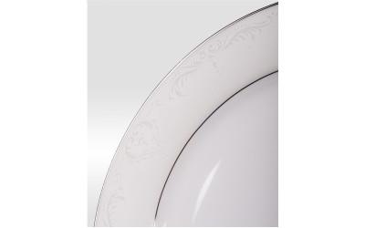 Набор тарелок подстан 6шт Сер шелк PL-8008PLem-21