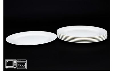Набор тарелок 6 шт. 20 см Белый, костяной фарфор
