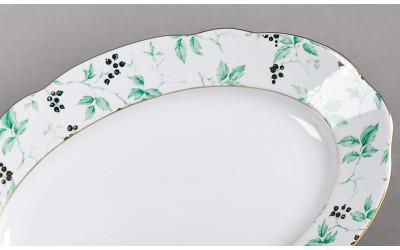 Блюдо овальное 23см 03111726-1381 Мэри-Энн Зеленые листья, Leander