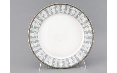 Блюдо круглое мелкое 30см 02111333-1013 Сабина Серый орнамент, Leander