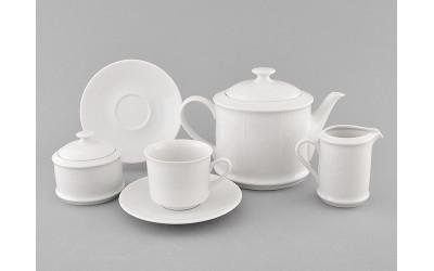 Сервиз чайный 15предм. 02160725-2325 Белый орнамент, Leander