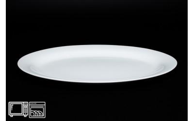 Овальное блюдо 30 см Белый, костяной фарфор