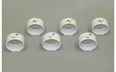 Набор колец для салфеток 6шт 02164611-0807 Гуси, Leander