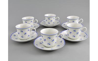 Набор чашек выс. с бл. 0,20л 6шт. 03160415-0887 Мэри-Энн Синие цветы, Leander
