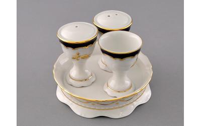 Набор для приправ 4предм. 07162512-1457 Соната Кобальтовый орнамент, золотая роза, Leander