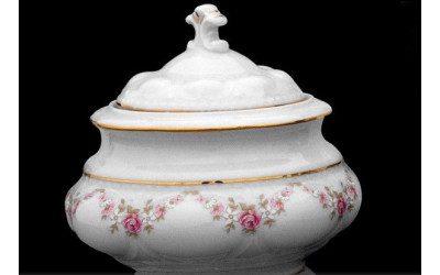 Сахарница без ручек 0,10л 07120903-0158 Верона, Мелкие цветы, отводка золото, Leander