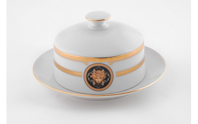 Масленка круглая 0,25кг 02122315-A126 Версаче золотая лента, Leander