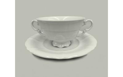Чашка для супа с блюдцем 2руч. 0,35л 07120624-0000 Императорский, Leander