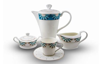 """JDWX5606-4 Сервиз чайный 6перс.17пред.""""Изуми"""" JDWX5606-4"""