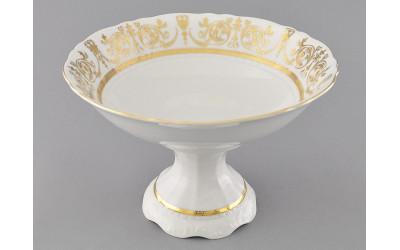 Ваза для фруктов на ножке 23см 07116155-1373 Соната Золотой орнамент, отводка золото, Leander