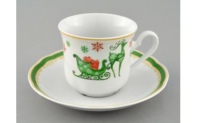 Чашка высокая с блюдцем 0,20л 03120415-2573 Мэри-Энн Олени, Leander