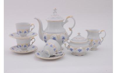 Сервиз кофейный 15 предм. 0,15л 07160714-0009 синие цветы, Leander