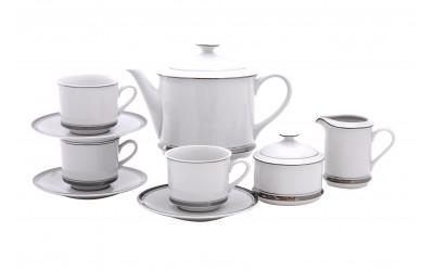 Сервиз чайный 15предм. 02160725-0011 Отводка платина, Leander