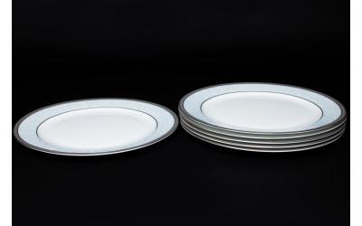 Набор тарелок 6 шт. 25 см Узор, костяной фарфор