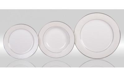 Набор тарелок 6/18 Серый шелк PL-8008PLem-2