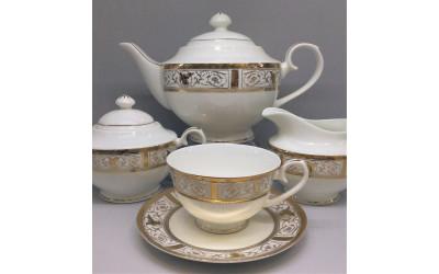 Сервиз чайный 17 предметов на 6 персон Оригами GMEMGD-4268M-4, Japonica