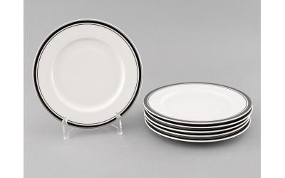 Набор тарелок десертн. 6шт. 17см 02160327-0011 Отводка платина, Leander