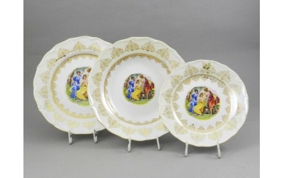 Набор тарелок 18 предм. с т.дес. 19см 67160119-1907