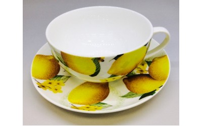 №11CS Чашка с блюдцем 350мл Лимон №11CS