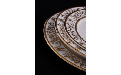 Набор тарелок 18предм.с тарел.дес. 19см 02160129-1373 Соната Золотой орнамент, отводка золото, Leander