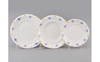 Набор тарелок 18предм. с т. дес. 19см 07160119-0009 синие цветы, Leander
