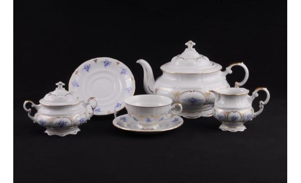 Сервиз чайный 15 предм. 07160725-0009 синие цветы, Leander