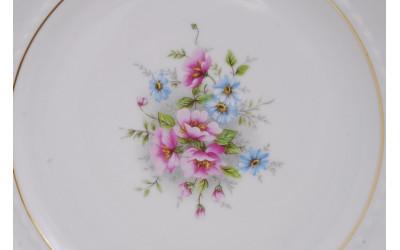 Набор тарелок десертных 6шт 19см 07160319-0013 Соната Розовые цветы, отводка золото, Leander