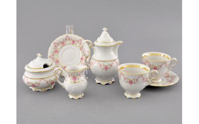 Подарочный набор кофейный мокко Тет-а-тет 07140743-0158 Верона, Мелкие цветы, отводка золото, Leander