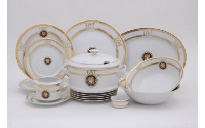 Сервиз столовый 25 предм. 02162021-A126 Версаче золотая лента, Leander