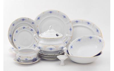 Сервиз столовый 25предм. 07162011-0009 синие цветы, Leander
