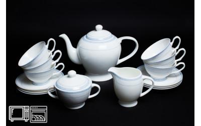 Чайный сервиз на 6 персон Утренний, Rulanda, костяной фарфор
