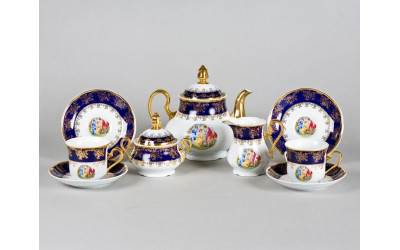 Сервиз чайный 15 предм 03160725-0179 Мэри-Энн Мадонна кобальт, Leander