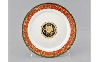 Блюдо круглое мелкое 30см 02111333-B979 Красная лента Версаче, Leander